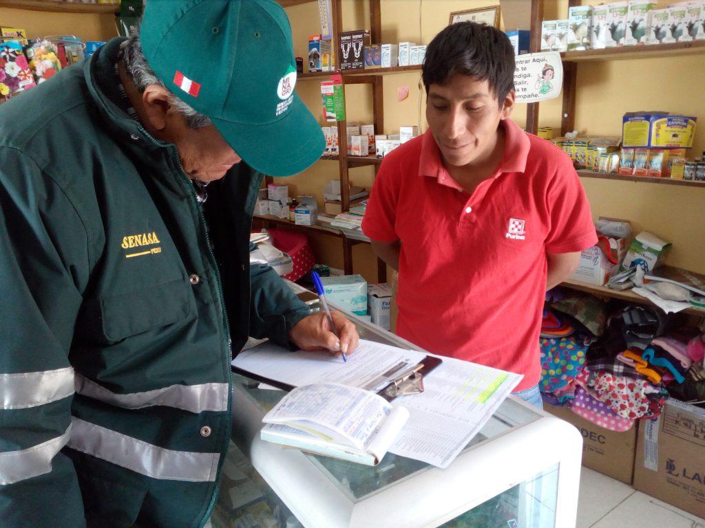 Fiscalización a agroveterinarias en el distrito de Puquio