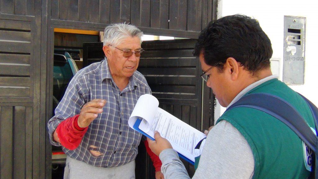 Primer encuestado en el estrato bajo en el distrito de Gregorio Albarracín