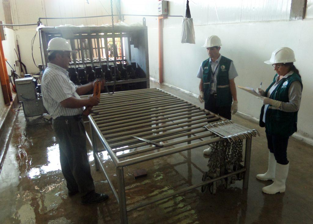 Senasa inspecciona matadero para autorización de funcionamiento