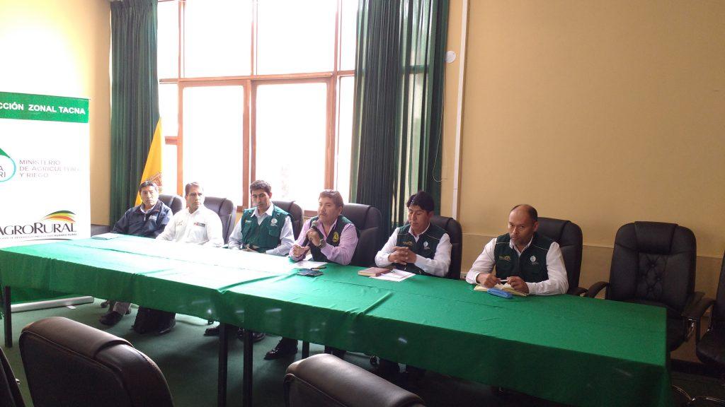 Senasa: El Comité Regional Agrario de Tacna anuncia el  cronograma del  Plan de Acción Sectorial Ante Heladas y Friaje 2017