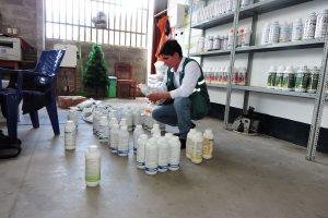 Inspección a establecimiento de venta de plaguicidas en Morales