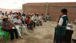 Senasa instruye a pequeños agricultores sobre control de mosca de la fruta en sector Cabeza de Toro